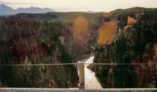 View From The Kuskulana Bridge