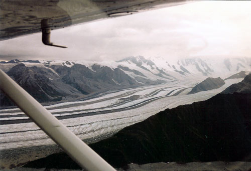 Glacier From The Plane
