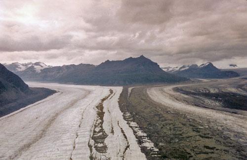Glacier Rivers Merging