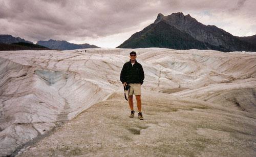 Danny On Glacier Near McCarthy