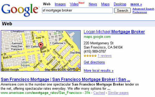 Google Maps In Web Search