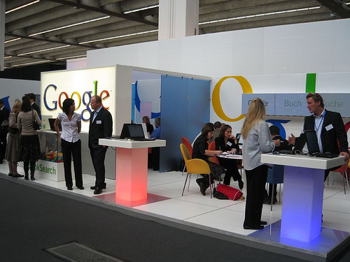 Google Booth At Frankfurth Book Fair
