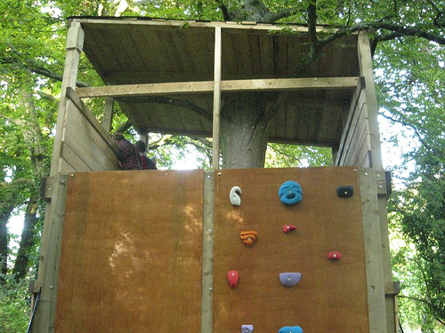 Treehouse: Climbing Wall