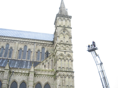 Teddy Bears Jump At Salisbury Cathedral