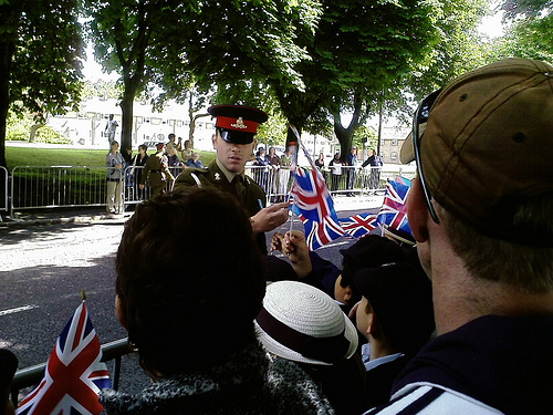 Distributing Union Flags