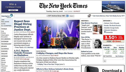 The New York Times Home Page