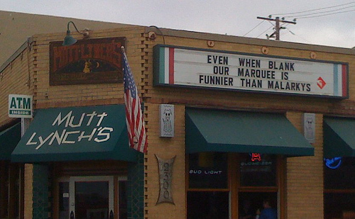 When Bar Marquees Go To War