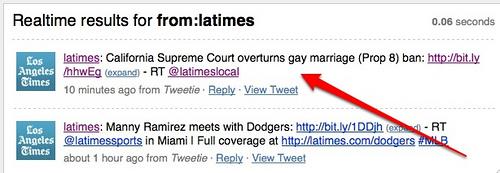 LA Times Tweets About Prop 8