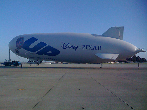 "Zeppelin Eureka With Pixar ""Up"" Logo"