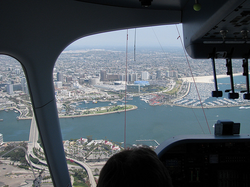 Long Beach From Zeppelin's Pilot's Window