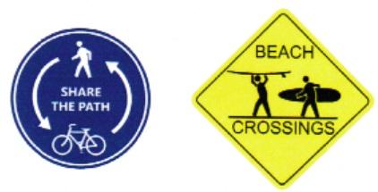 New Balboa Boardwalk Signs