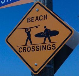 Beach Crossings Sign