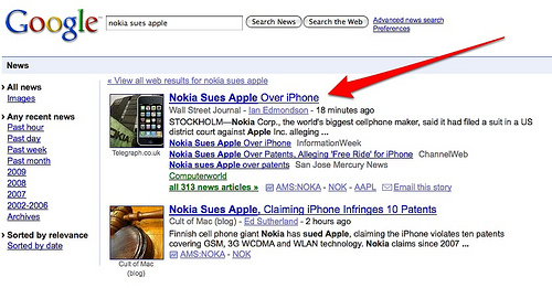 nokia sues apple - Google News