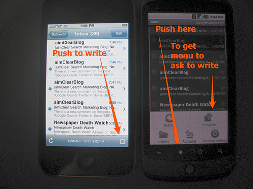 Email On iPhone Vs. Nexus One