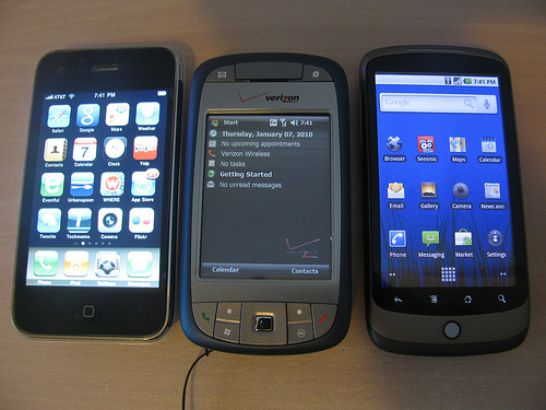 iPhone, Windows Mobile & Nexus One Android, Side-By-Side