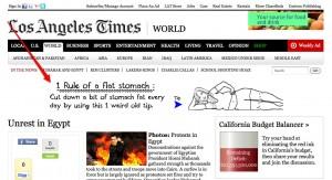 Ads on LA Times
