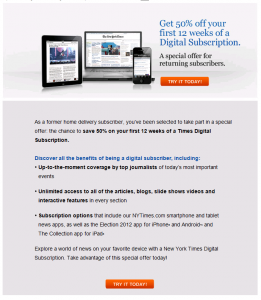 Dear New York Times & Wall Street Journal: How About Some Sensible Digital Subscription Pricing?