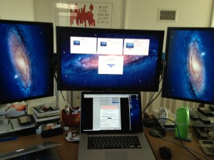 My MacBook Pro Retina Running 3 External Monitors (& Could Do 4, 5….)