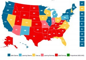 The 2012 Electoral College Map Done Right: States Sized By Votes, Not Geographic Size