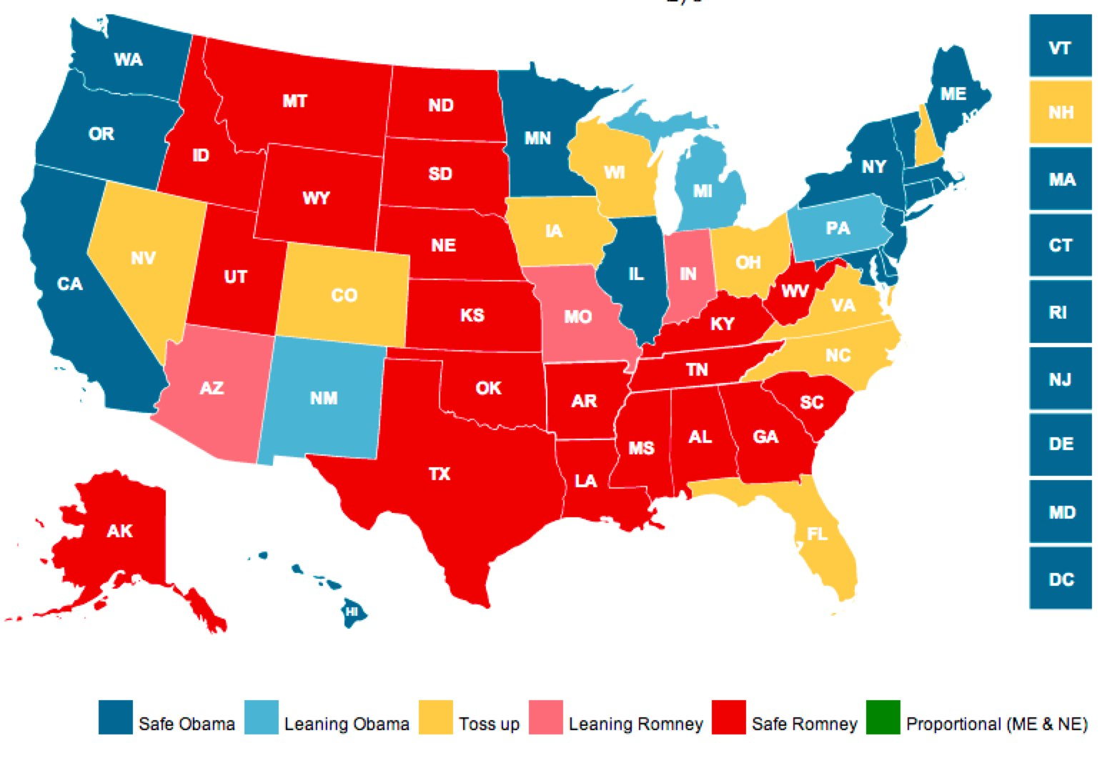 CNN 2012 Electoral Map