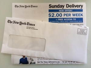 New York Times mailer