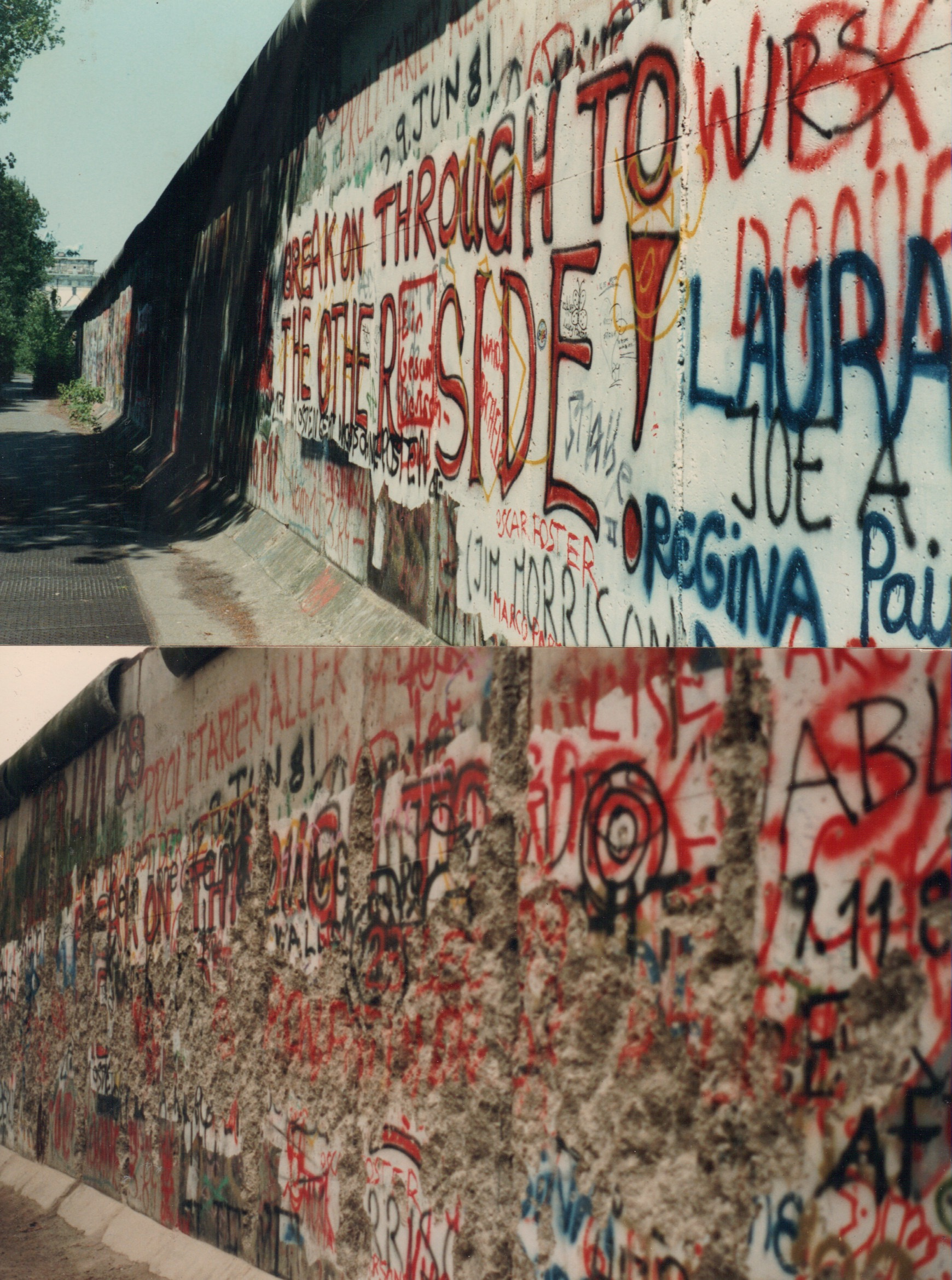 berlin wall before and after