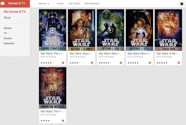 Star Wars Google Play